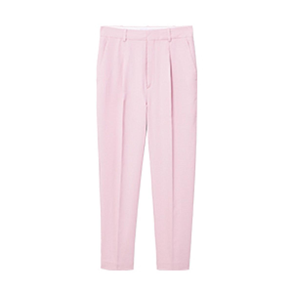 Linen High-Waist Trousers