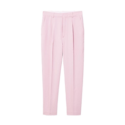 Linen High-Waist Trousers