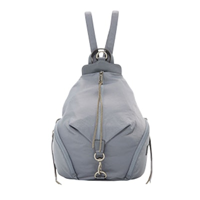 Washed Nylon Multi-Zip Backpack
