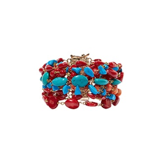 Prato Fiorito Gold-Tone Beaded Bracelet