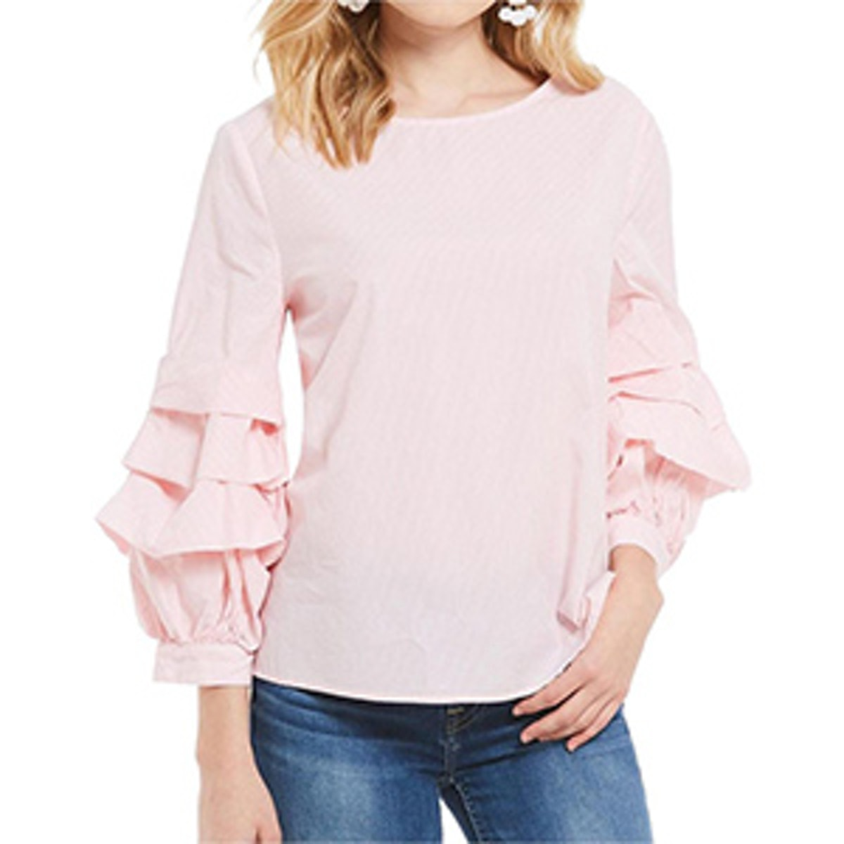 Delphine Tiered Ruffle Sleeve Blouse
