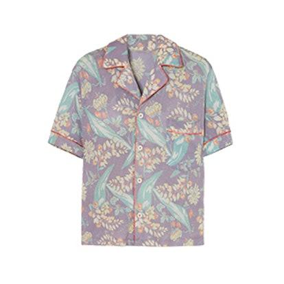 The Elder Statesman Printed Cashmere And Silk-Blend Shirt