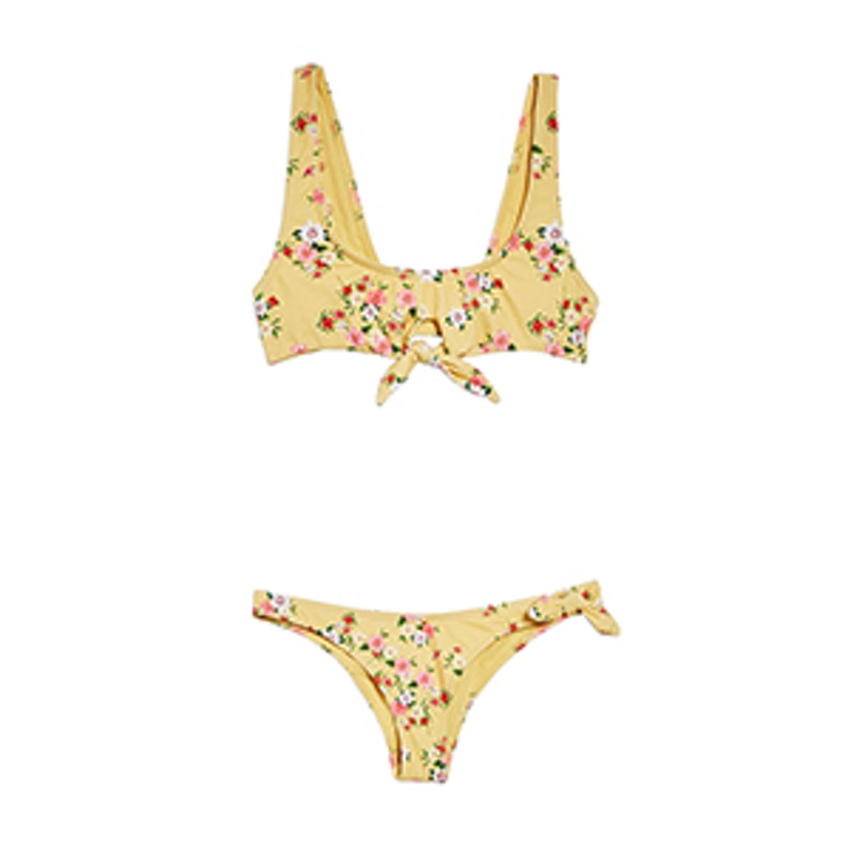 Floral Print Tie Side Bikini Set