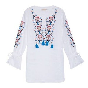 Wildflower Embroidered Cover-Up Tunic