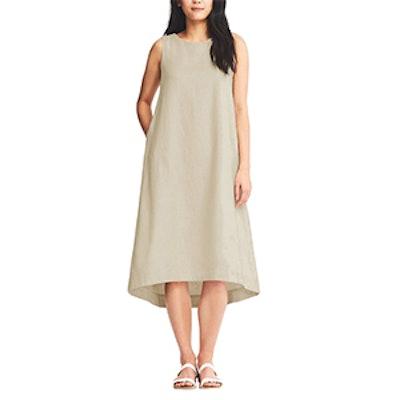 Linen Blend Sleeveless Dress