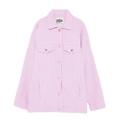 Zara Colorful Oversize Denim Jacket