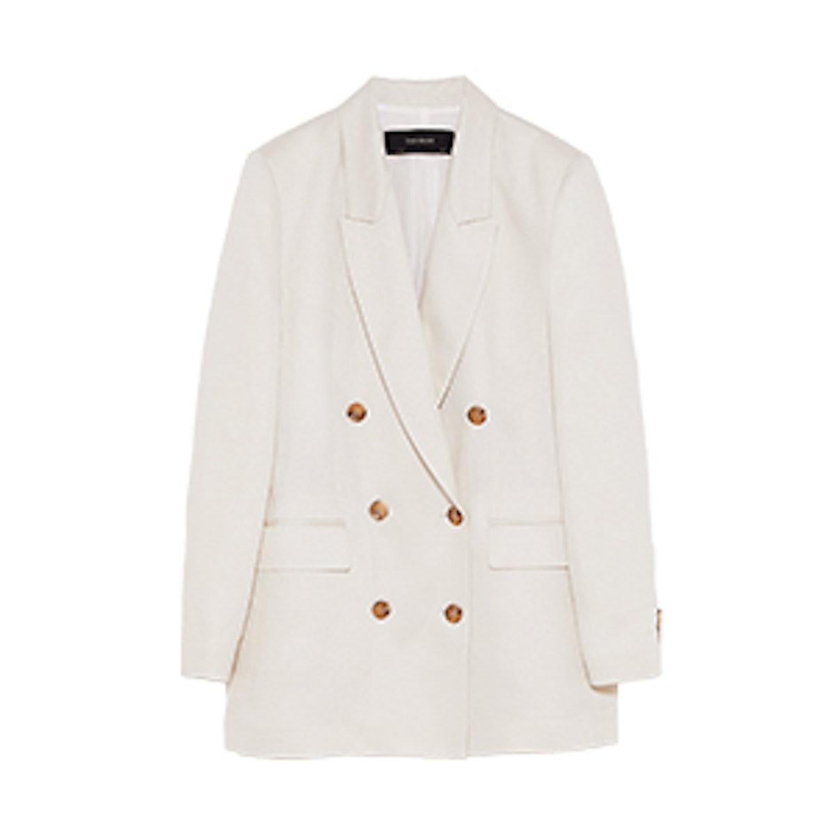 Glossy Linen Blazer