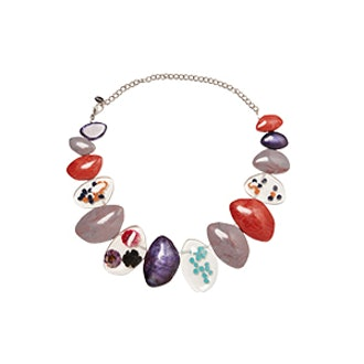 Necklace With Resin Pieces