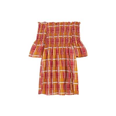 Smocked Check Dress