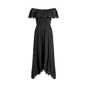 Cleo Off-The-Shoulder Cotton Gauze Maxi Dress
