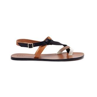 ATP Atelier Arona Colourblock Leather Sandals