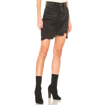 Black Ice Denim Skirt