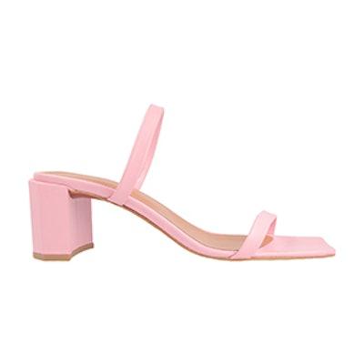Tanya Pink Leather Sandal