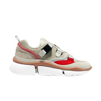 Chloé Sonnie Suede And Leather-Trimmed Canvas And Mesh Sneakers