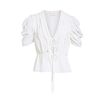 Keira Tie Front Silk Top