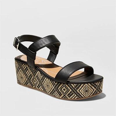 DV By Dolce Vita Women's Brynn Ankle Strap Woven Flatform Sandals