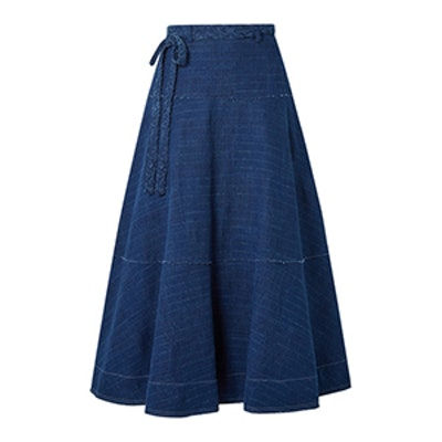 Leila Slub Denim Maxi Skirt