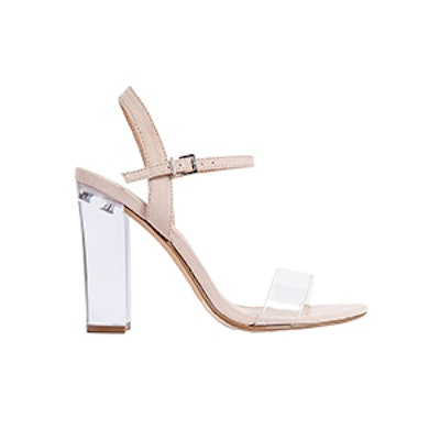 Lucite Heeled Sandals
