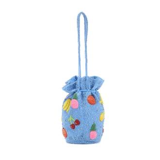 Edison Beaded Bucket Bag
