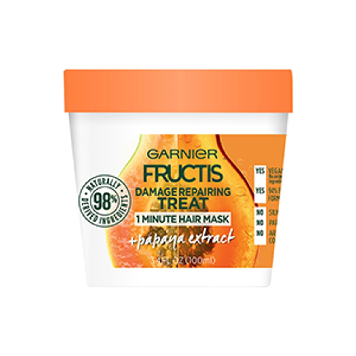 Garnier Fructis Smoothing Treat 1 Minute Hair Mask in Papaya Extract