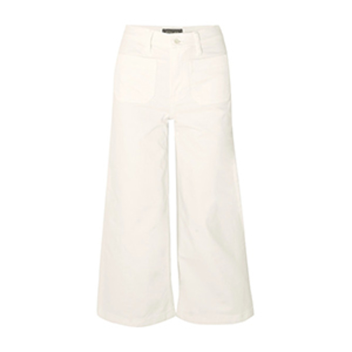Cropped High-Rise Wide Leg Jeans