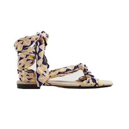 Straps Printed Sandals