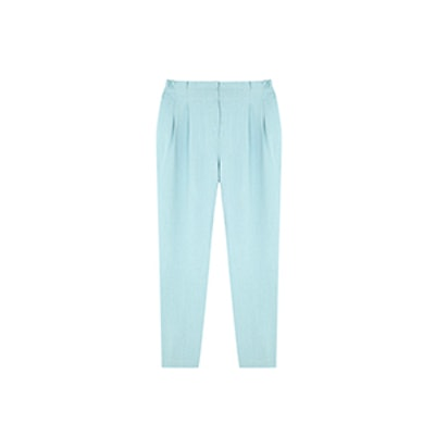 Limited Edition Linen Suit Trousers With Turn-Up Hem Detail