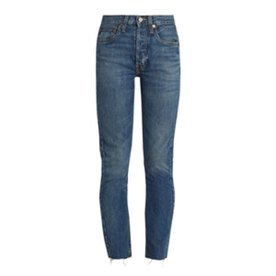 RE/DONE High-Rise Skinny-Leg Jeans
