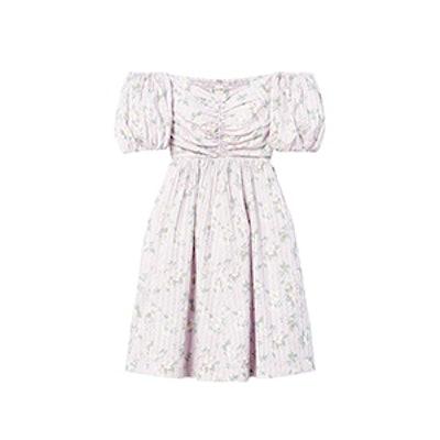 La Vie Off-The-Shoulder Adrienne Print Dress
