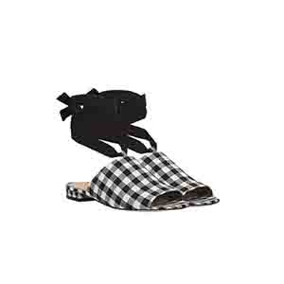 Theodora Ankle Wrap Slide Sandal