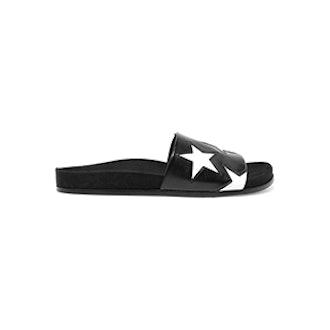 Stella McCartney Two-Tone Faux Leather Slides