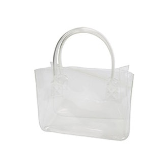 See-Through Open Top Tote Bag