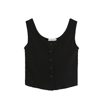 SweatyRocks Sleeveless Vest Button Front Cropped Tank