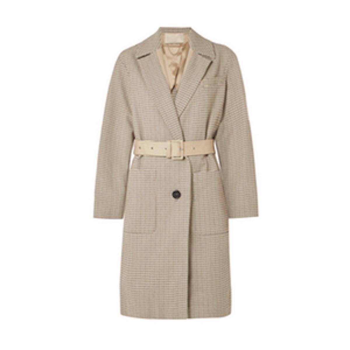 Vanessa Bruno Lambo Belted Cotton-Tweed Coat