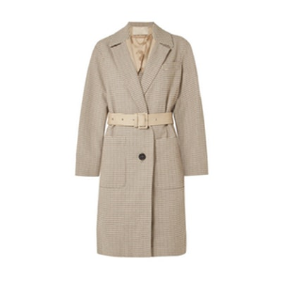 Vanessa Bruno Lambo Belted Cotton-Tweed Coat