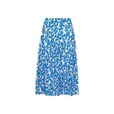 Cordillia Print Pleated Skirt