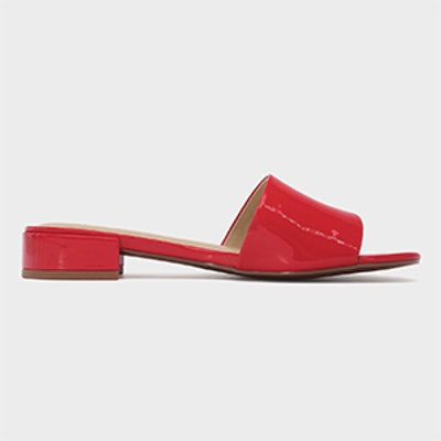Who What Wear Women's Mae Patent Heeled Slide Sandals
