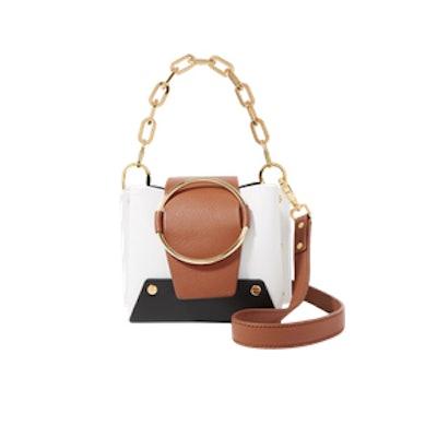 Yuzefi Delila Mini Color-Block Textured-Leather Shoulder Bag