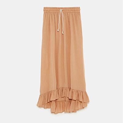 Long Ruffled Skirt