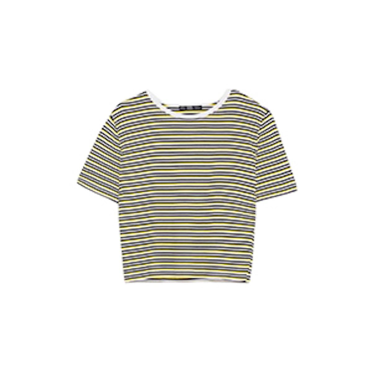 Cropped Rib T-Shirt