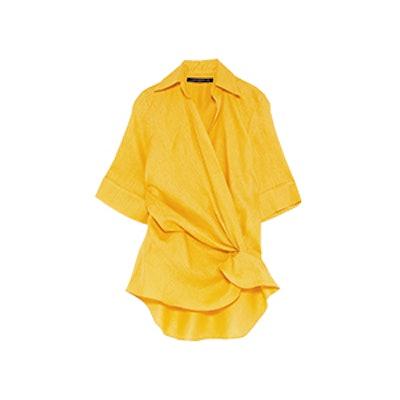 Draped Linen Top