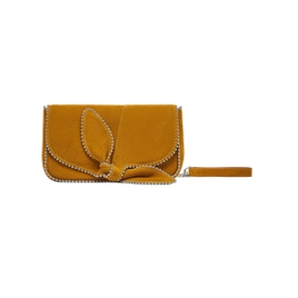 Leather Crossbody Bag With Bow
