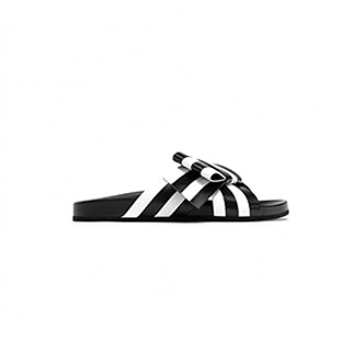 Striped Bow Slides