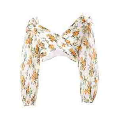 Zimmermann Golden Surfer Floral Print Blouse