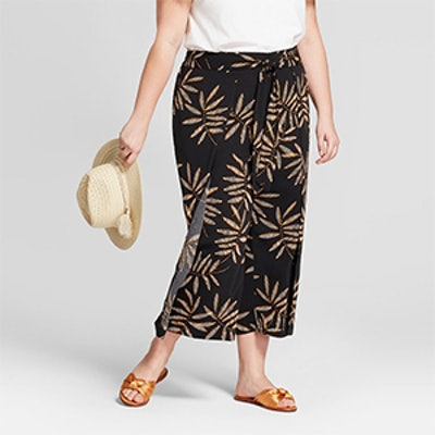 Women's Plus Size Printed Cropped Wrap Pants