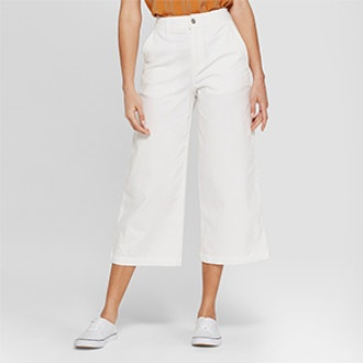A New Day Women's Wide Leg Crop Pants
