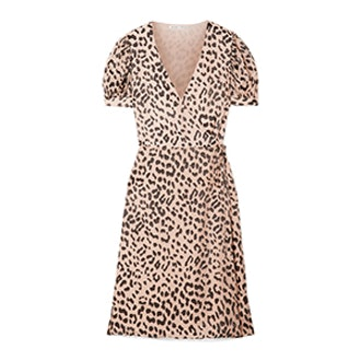 Alice & Olivia Rosette Devoré-Chiffon Wrap Dress