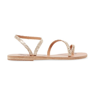 Ancient Greek Sandals Eleftheria Sequined Leather Sandals