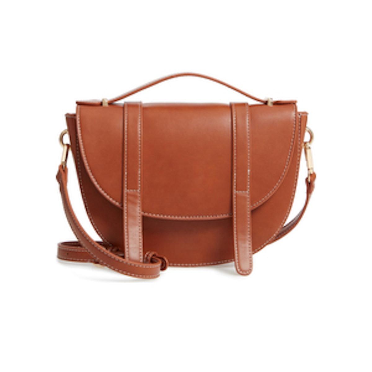 Top Handle Saddle Crossbody Bag
