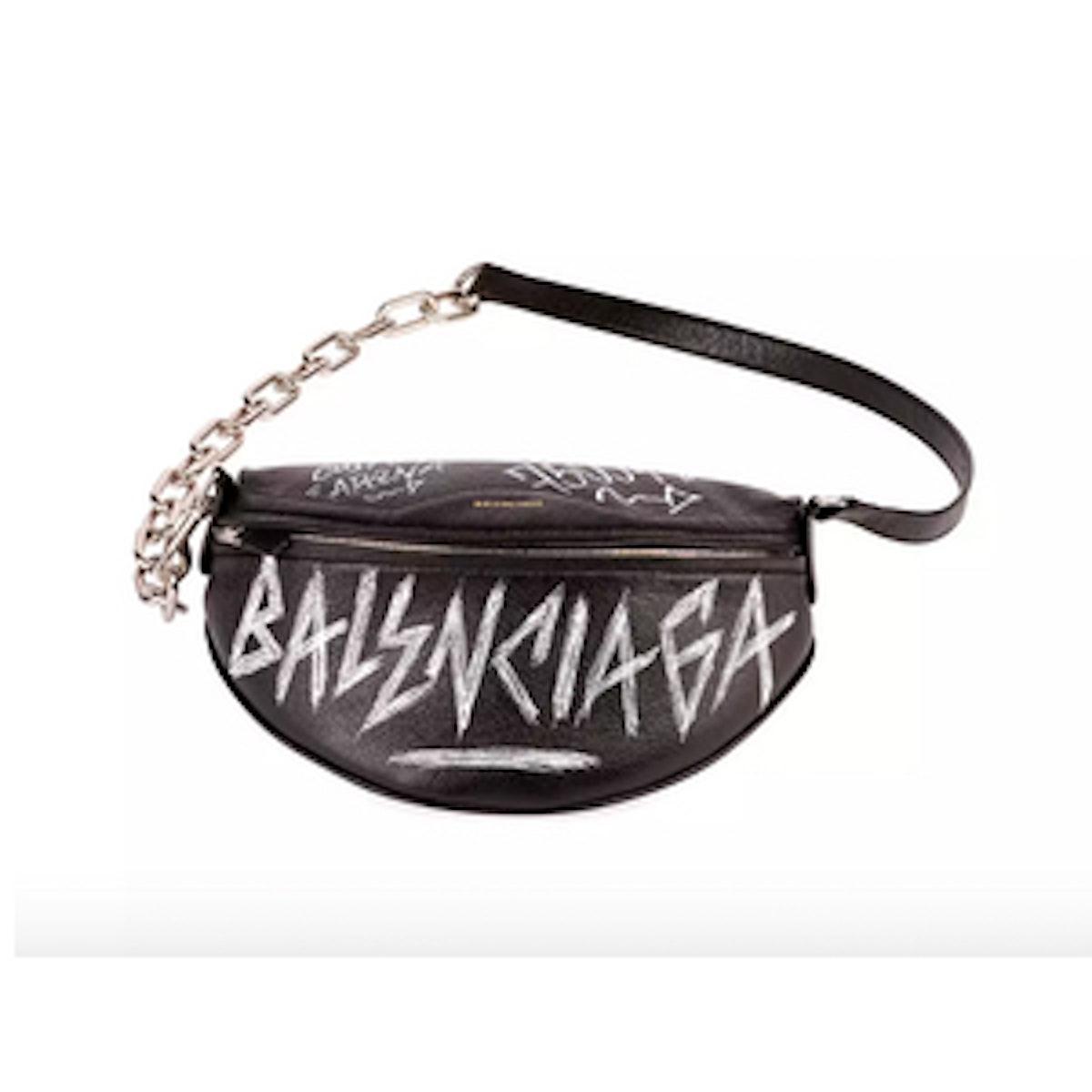 Graffiti-Print Fanny Belt Bag